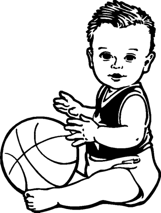 Baby03 with Basketball