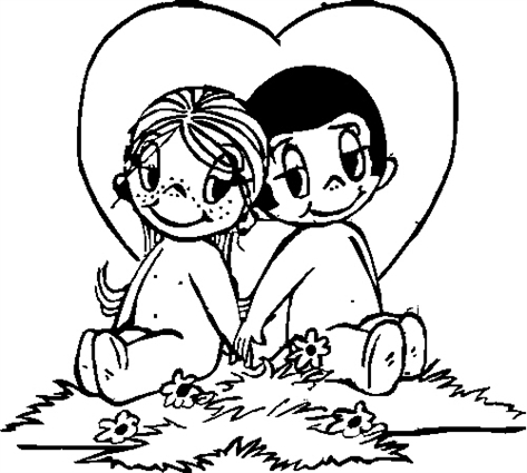 Boy & Girl with Heart