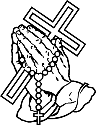 Praying Hands30 with Cross and Rosary